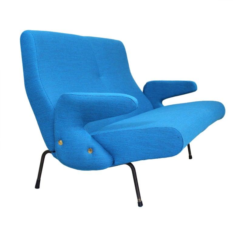 Sofa Two-Seat, Model 'Delfino' by Erberto Carboni, Arflex, 1954