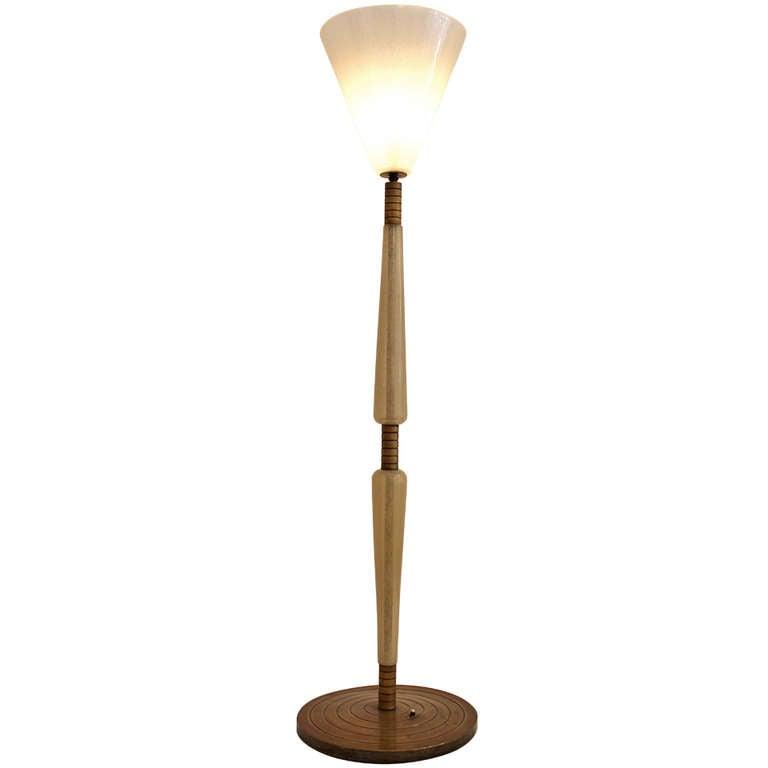 Floor lamp seguso murano at 1stdibs for 1930 floor lamps