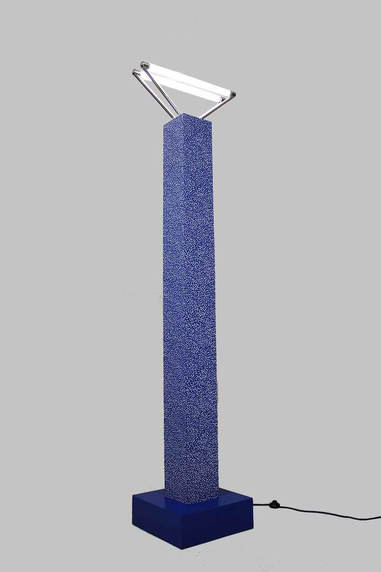 Floor lamp quotsvincoloquot by ettore sottsass studio alchimia for Milano chrome floor lamp
