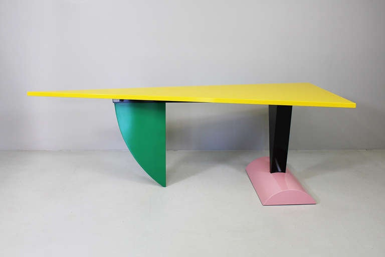 """Table """"Brazil"""" by Peter Shire, Memphis Milano, 1981 3"""