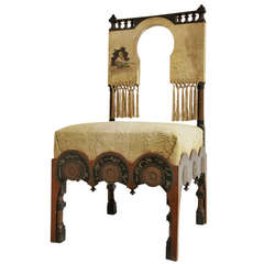Chair by Carlo Bugatti, circa 1902