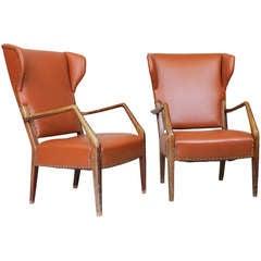 Pair of wing chairs ba Peter Hvidt & Olga Molgaard Nielsen, ca.1945
