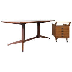 Desk with Container by Franco Albini, Poggi Italy, 1956