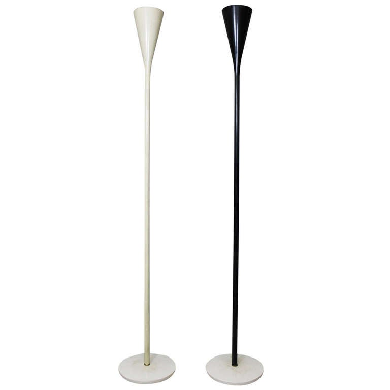 A Pair of Floor Lamps by Angelo Lelli, Arredoluce, Italy, circa 1950