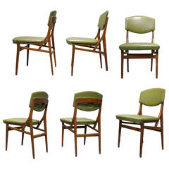 Six Chairs by Augusto Romano, Cassina, Italy circa 1955