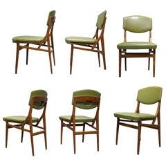 Six Chairs by Augusto Romano, Cassina, Italy circa 1955
