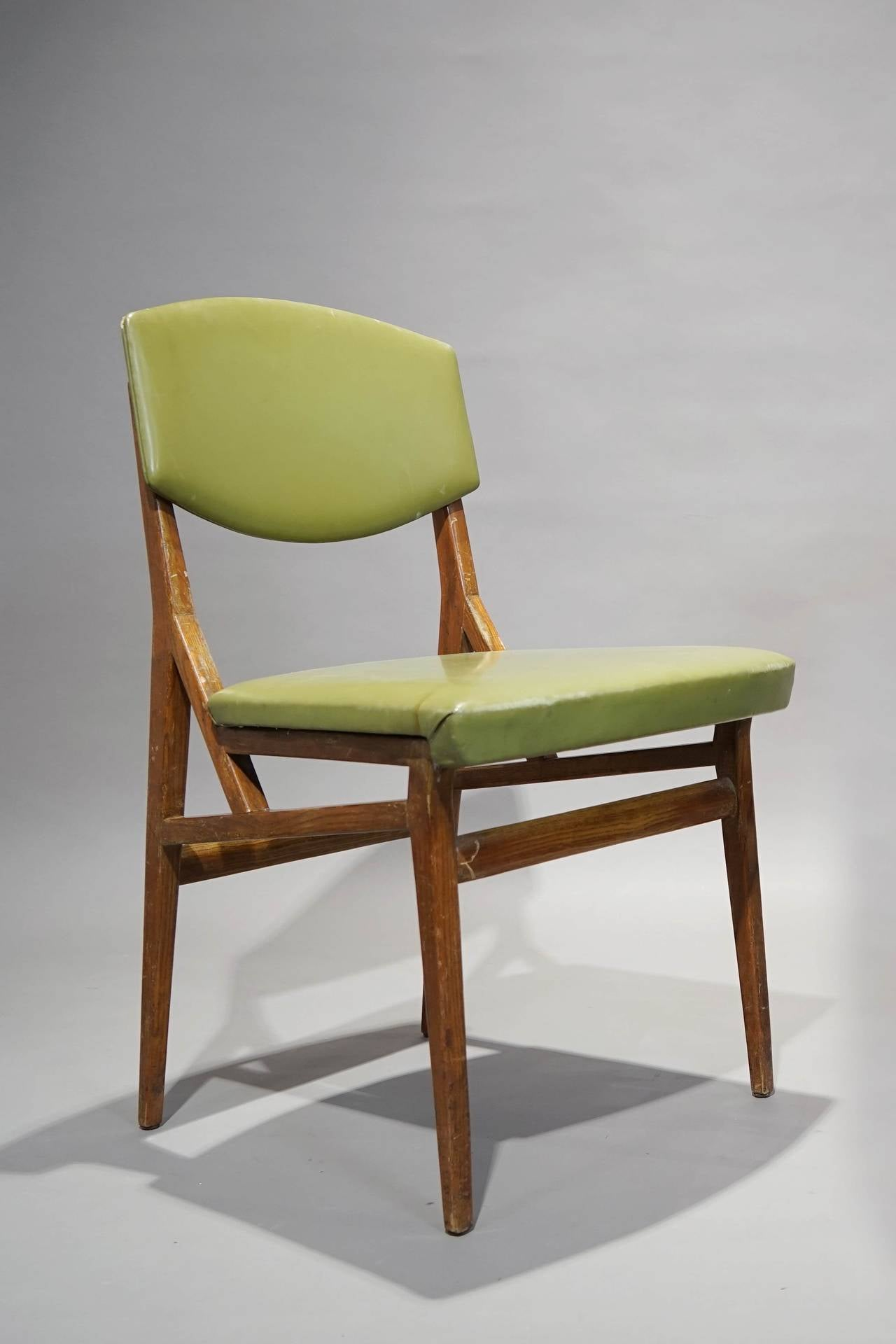 Six Chairs By Augusto Romano, Cassina, Italy Circa 1955 3