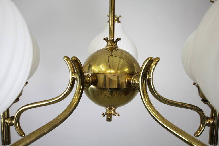 Mid-20th Century Italian Chandelier in the style of Arredoluce For Sale