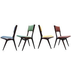 Four Chairs Model 634 by Carlo de Carli for Cassina, Italy 1954