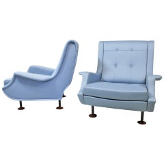 """A pair of Armchairs, model """"Regent"""" by Marco Zanuso, Arflex Italy, 1960"""