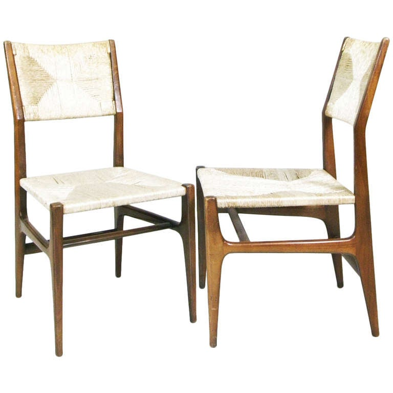 "A Pair Of Chairs, Variation of ""Leggera"" By Gio Ponti Ca. 1952, Cassina Italy"