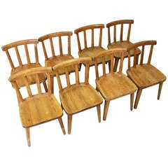 "8 ""Uto"" CHAIRS by Axel Einar Hjorth, Nordiska Kompaniet Sweden, 1930"