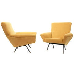 Pair of Easy Chairs by Augusto Magnaghi and Mario Terzaghi, circa 1950