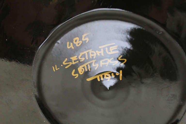 Italian Vase model 485 by Ettore Sottsas, Il Sestante Sottsass Italy ca. 1961 For Sale