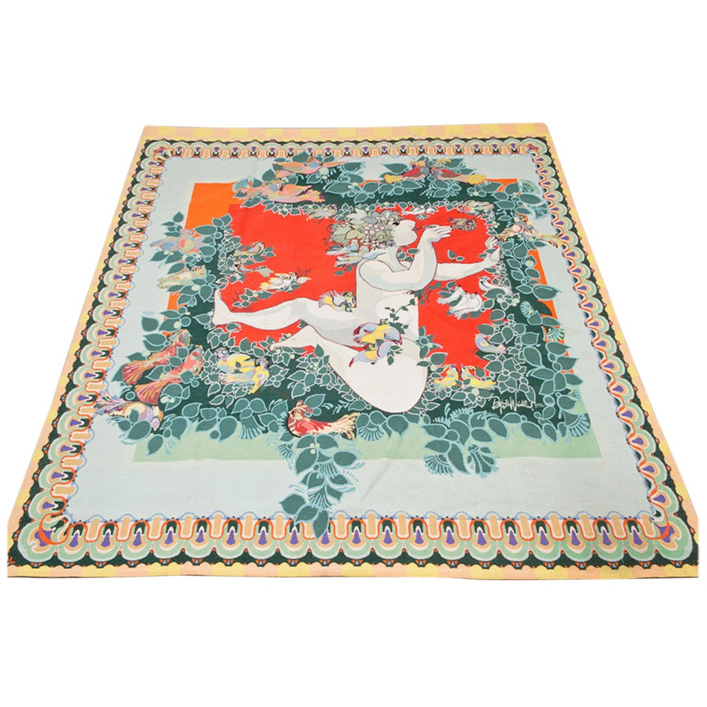 Carpet by Bjørn Wiinblad, Scandinavia 1976-1977