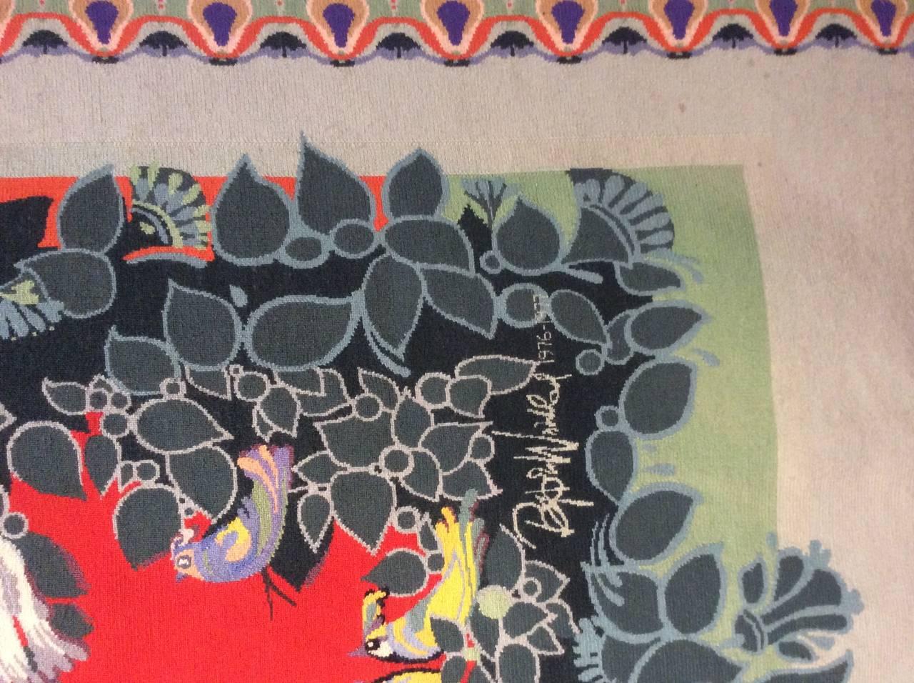 Carpet by Bjørn Wiinblad, Scandinavia 1976-1977 In Excellent Condition In Berlin, DE