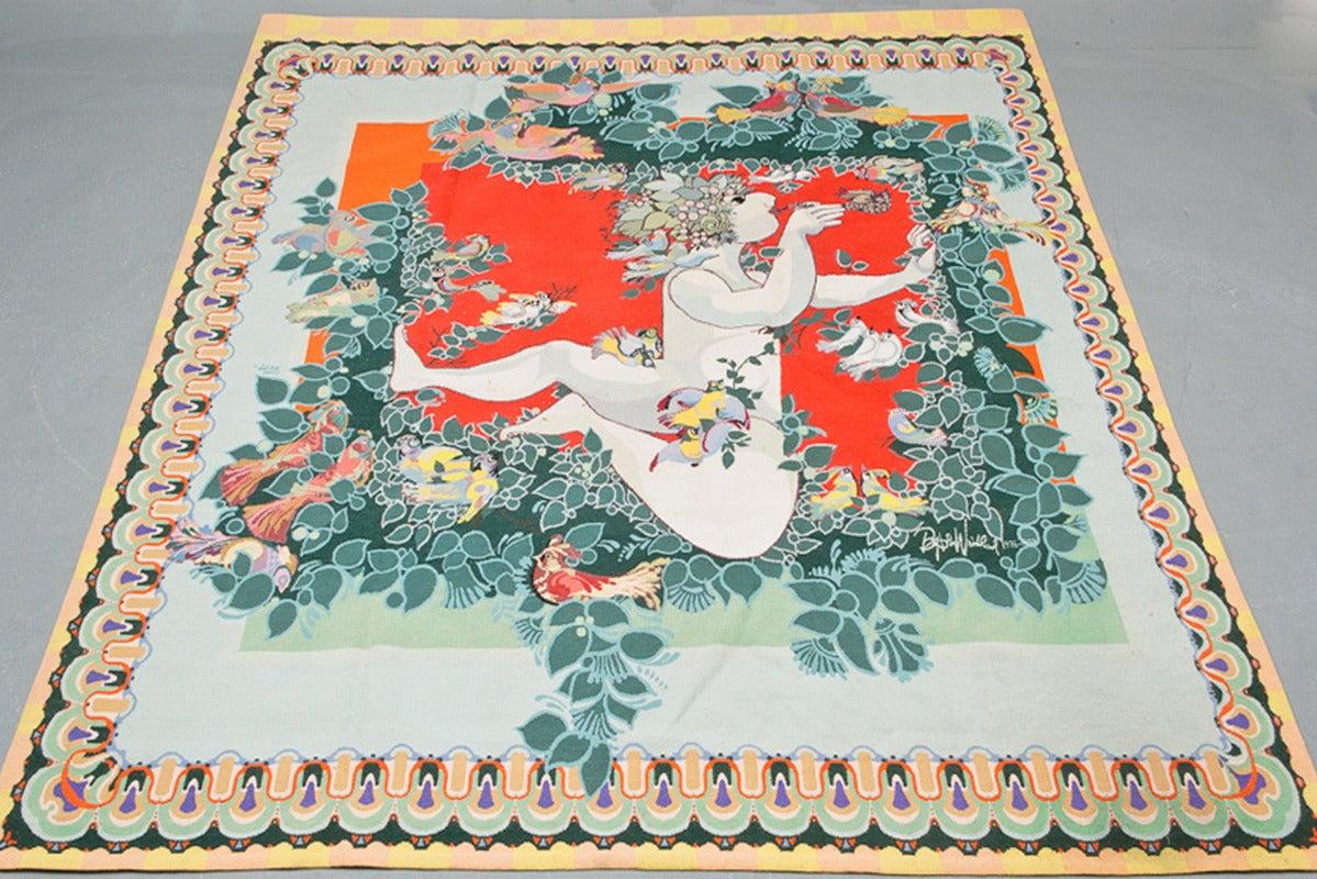 Swedish Carpet by Bjørn Wiinblad, Scandinavia 1976-1977