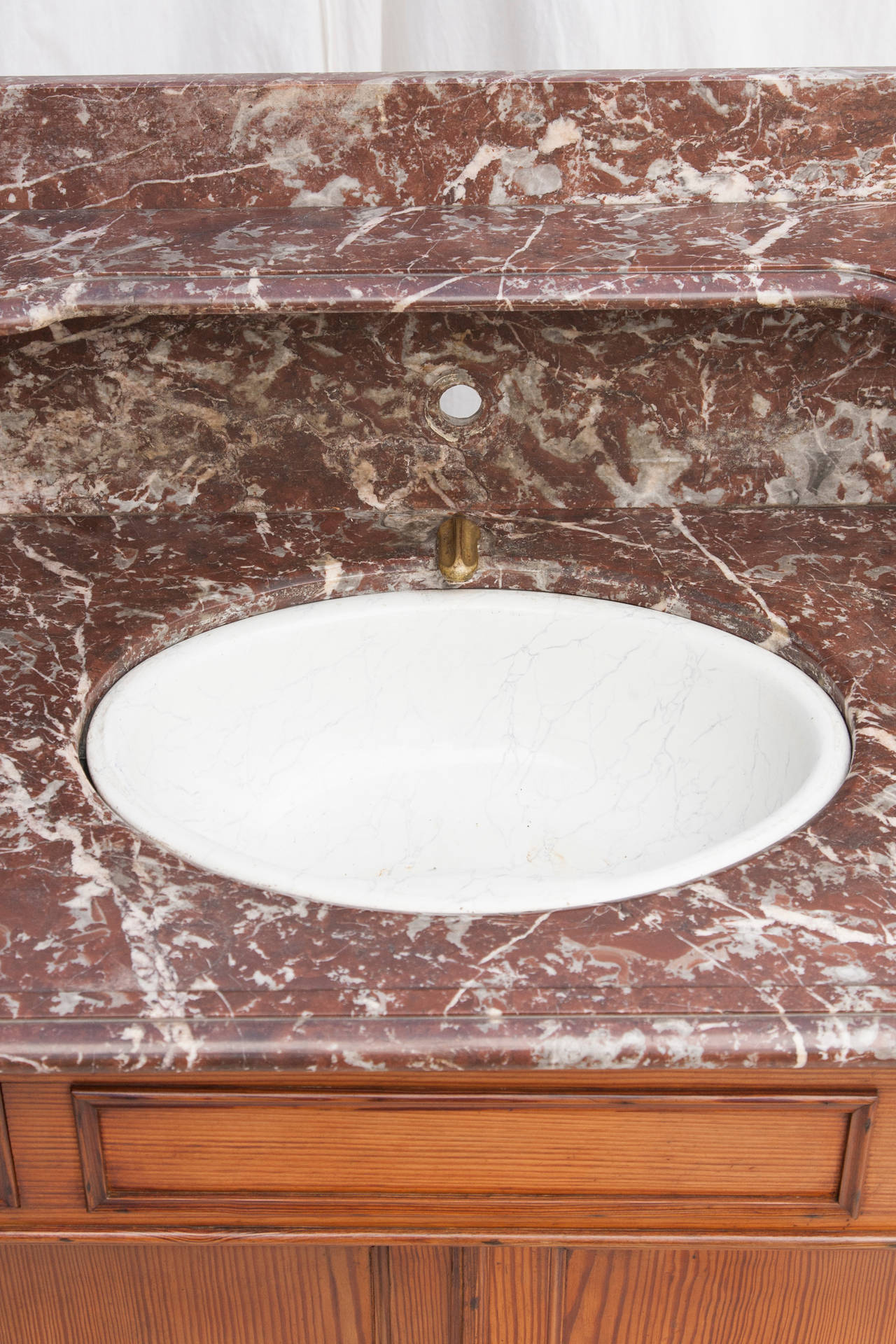 French Stone Sink : French Vanity Cabinet with Marble Top and Porcelain Swivel Sink ...