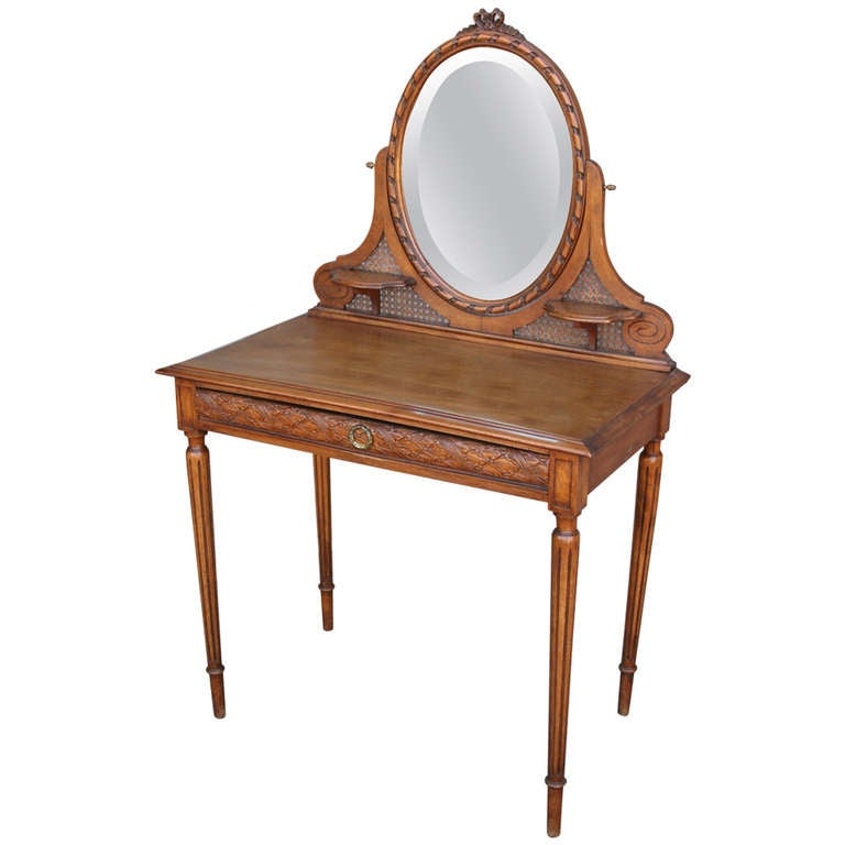 Carved Walnut Louis Xvi Vanity Table At 1stdibs