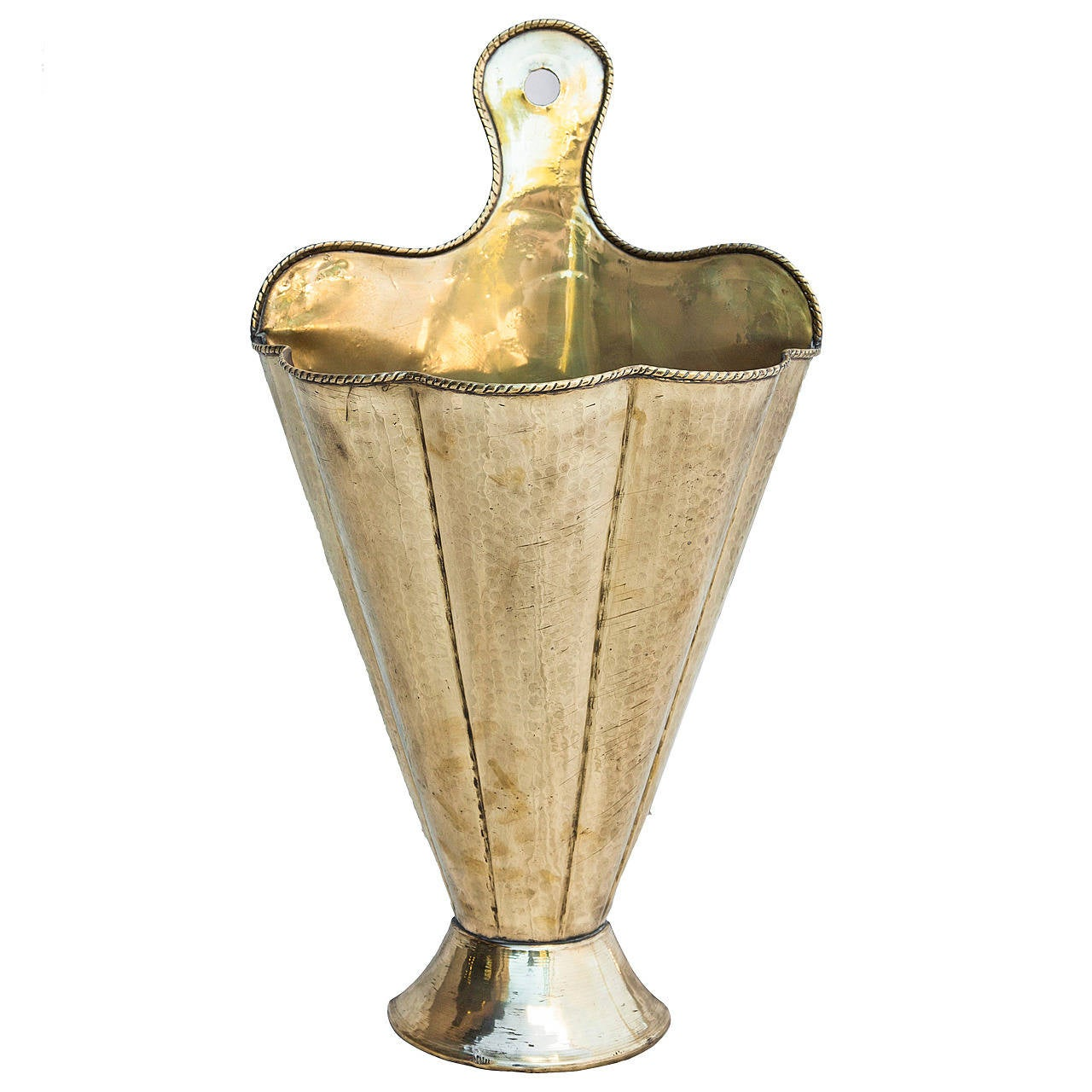 art deco brass umbrella stand in the shape of an opening umbrella . art deco brass umbrella stand in the shape of an opening umbrella