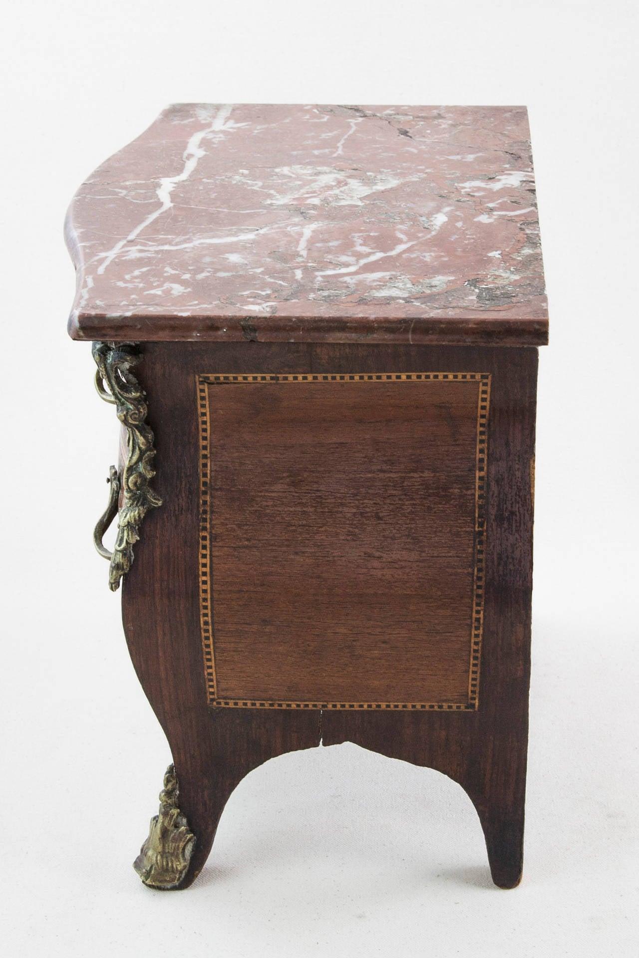 Louis xv style miniature chest jewelry box or meuble de - Meuble louis xv ...