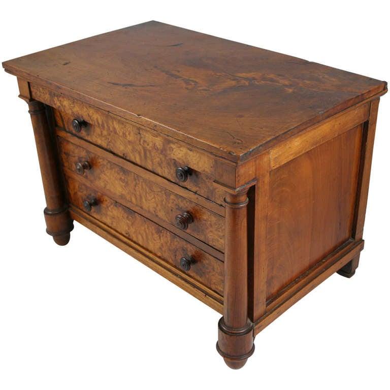 Empire meuble de maitrise miniature chest at 1stdibs for Meuble empire