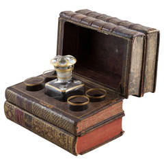 18th Century Antique French Concealed Liqueur Service in Faux Books