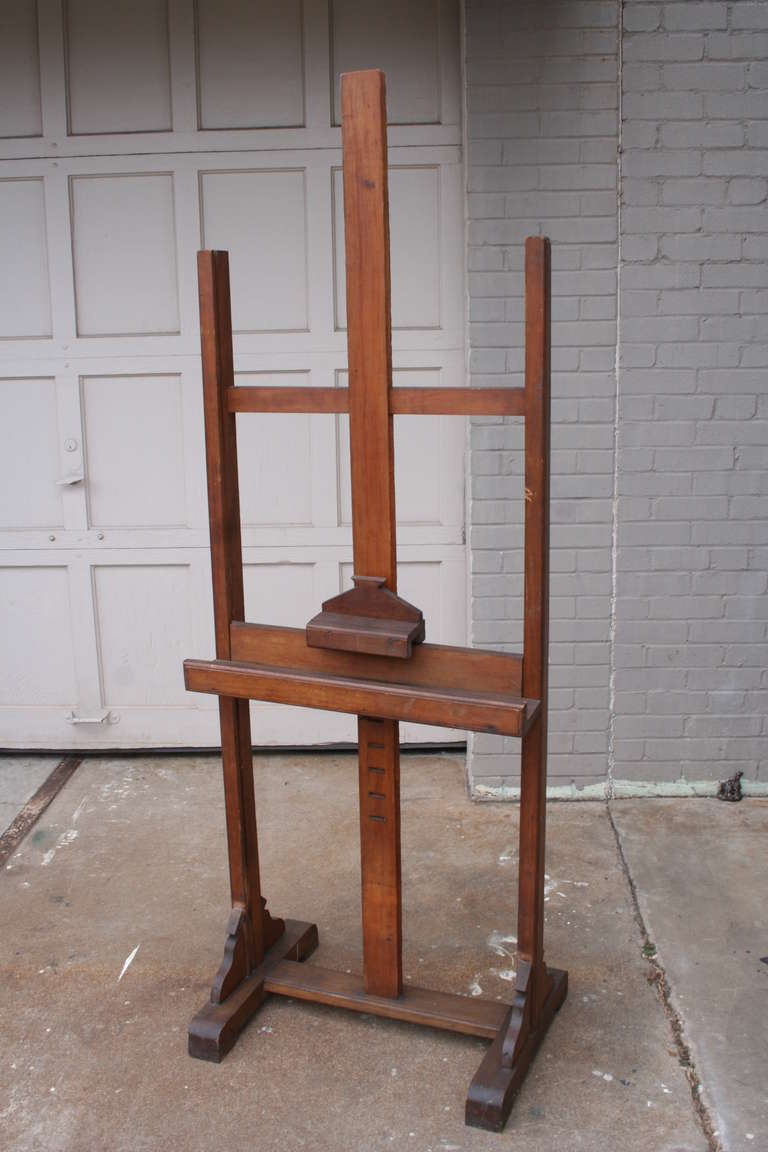 large adjustable standing antique french painting or display easel ca 2 - Display Easel