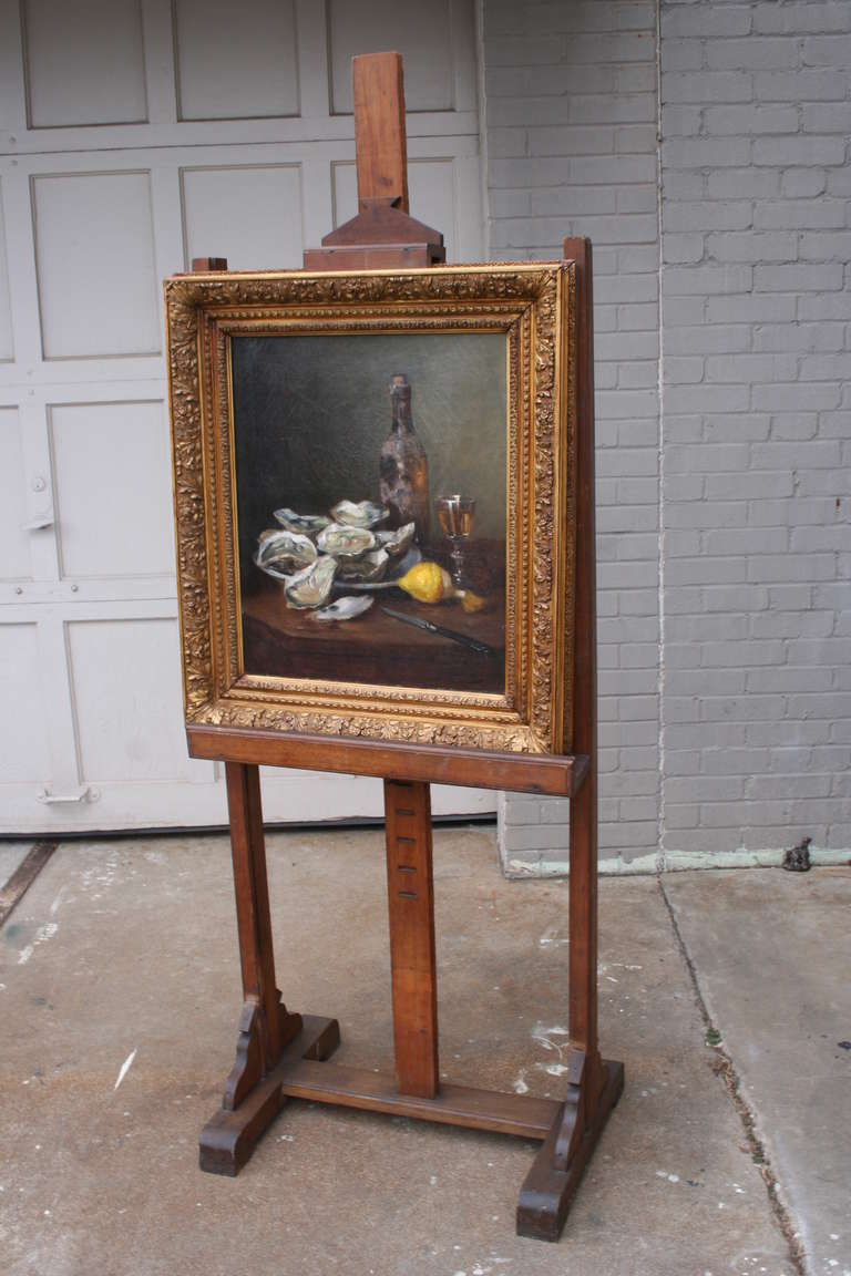 Large Adjustable Standing Antique French Painting Or
