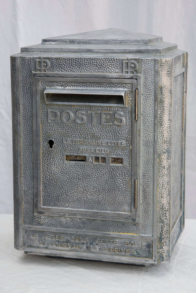 art deco era french mailbox at 1stdibs. Black Bedroom Furniture Sets. Home Design Ideas