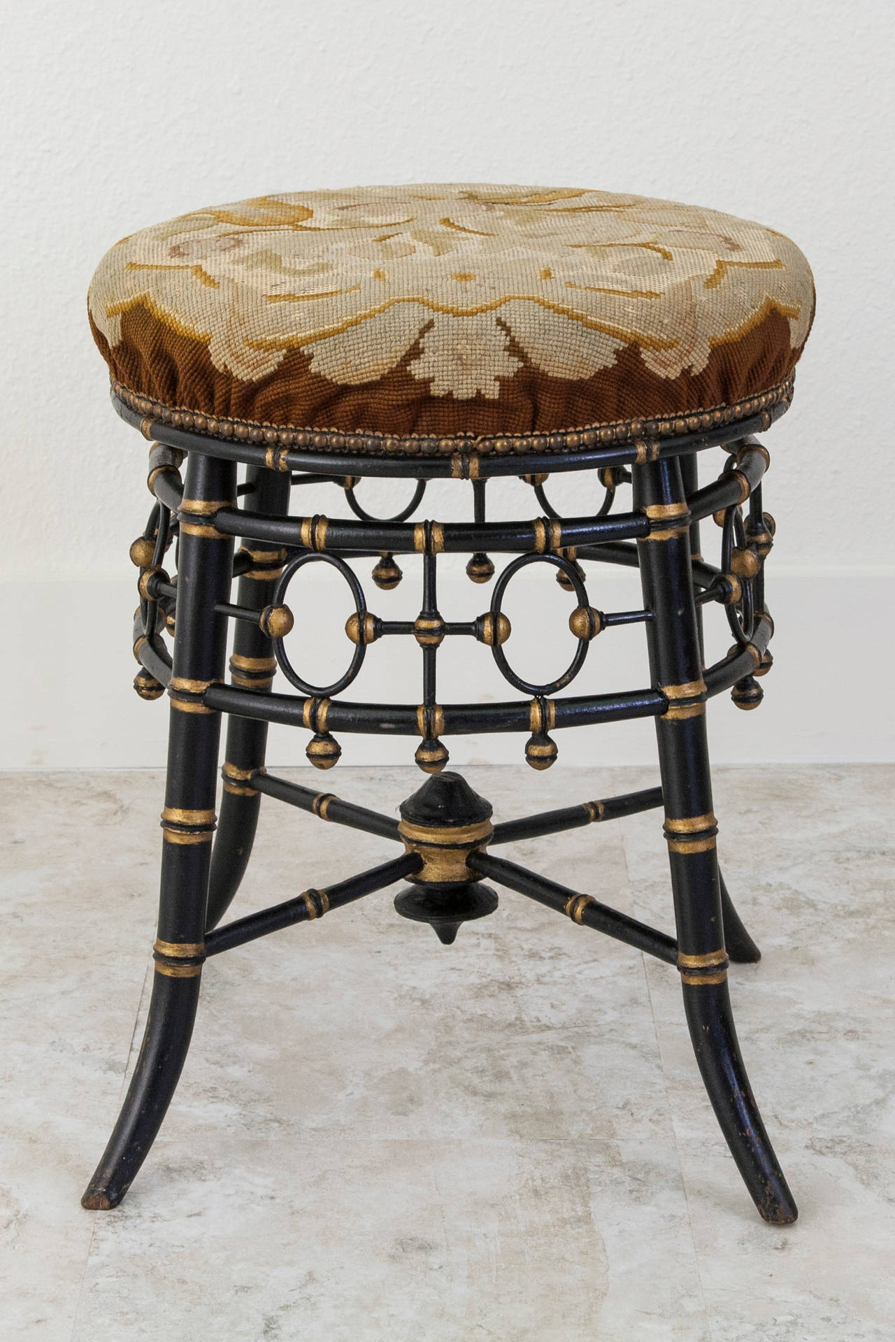 image quarter bamboo bathroom stool napoleon iii era ebonized faux bamboo and gilt stool or seat