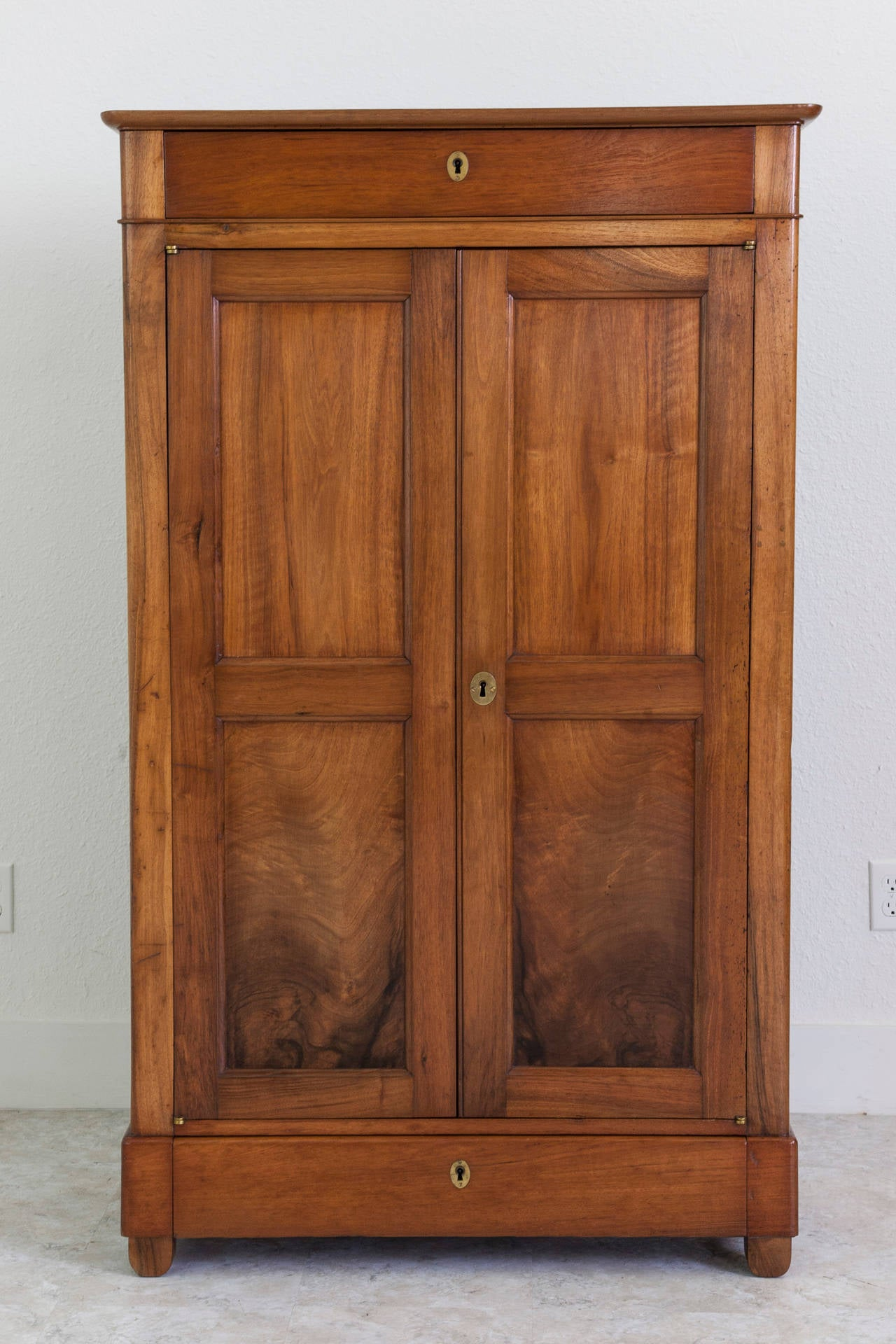 restauration period french walnut armoire or cabinet at. Black Bedroom Furniture Sets. Home Design Ideas