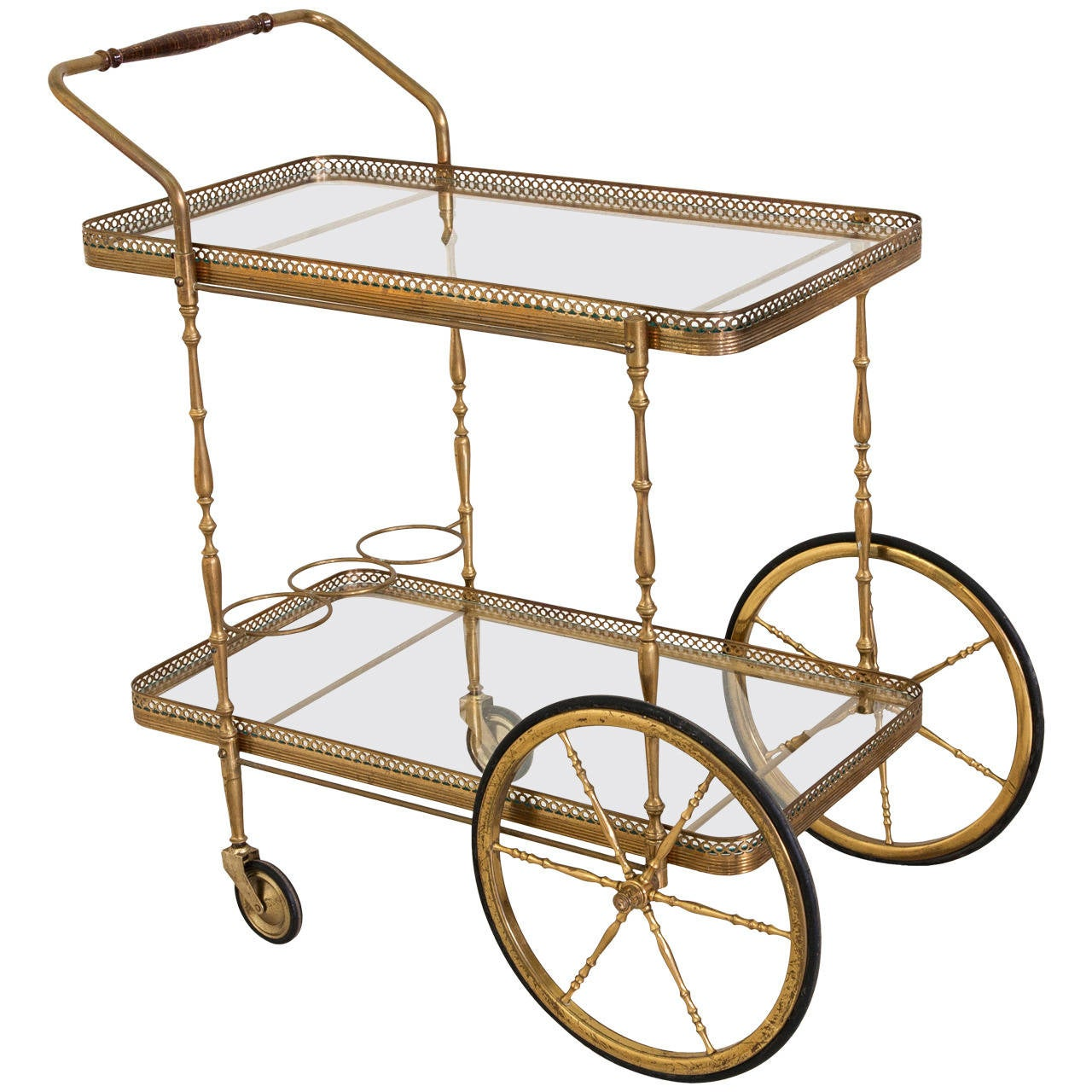 Mid Century French Bronze Bar Cart At 1stdibs