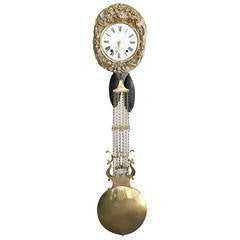 19th Century French Brass Repoussé Clock Movement