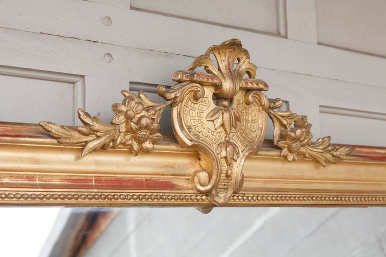19th Century Regency Mantle Or Full Length Gilt Wood