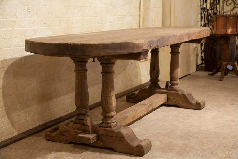 Hand Hewn Oak Oval Monastery Table At 1stdibs