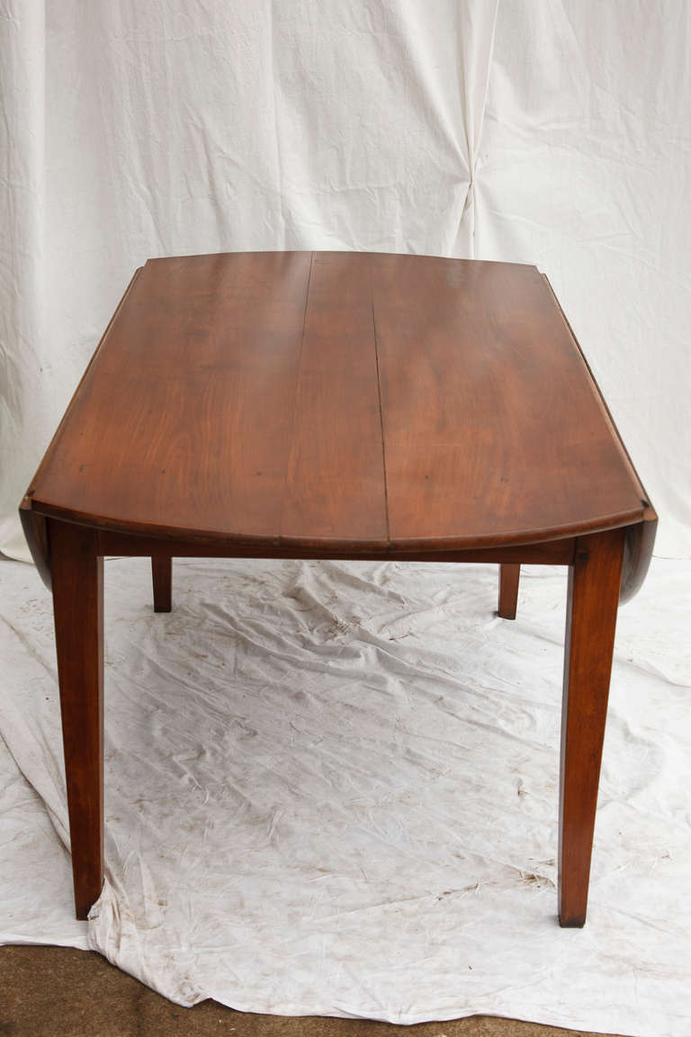 Hand Pegged Round Cherry Wood Dining Table at 1stdibs