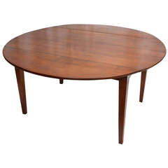 Hand Pegged Round Cherry Wood Dining Table