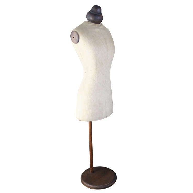 Early 20th century Tabletop Mannequin From a French Dressmaker's Shop 28 in High