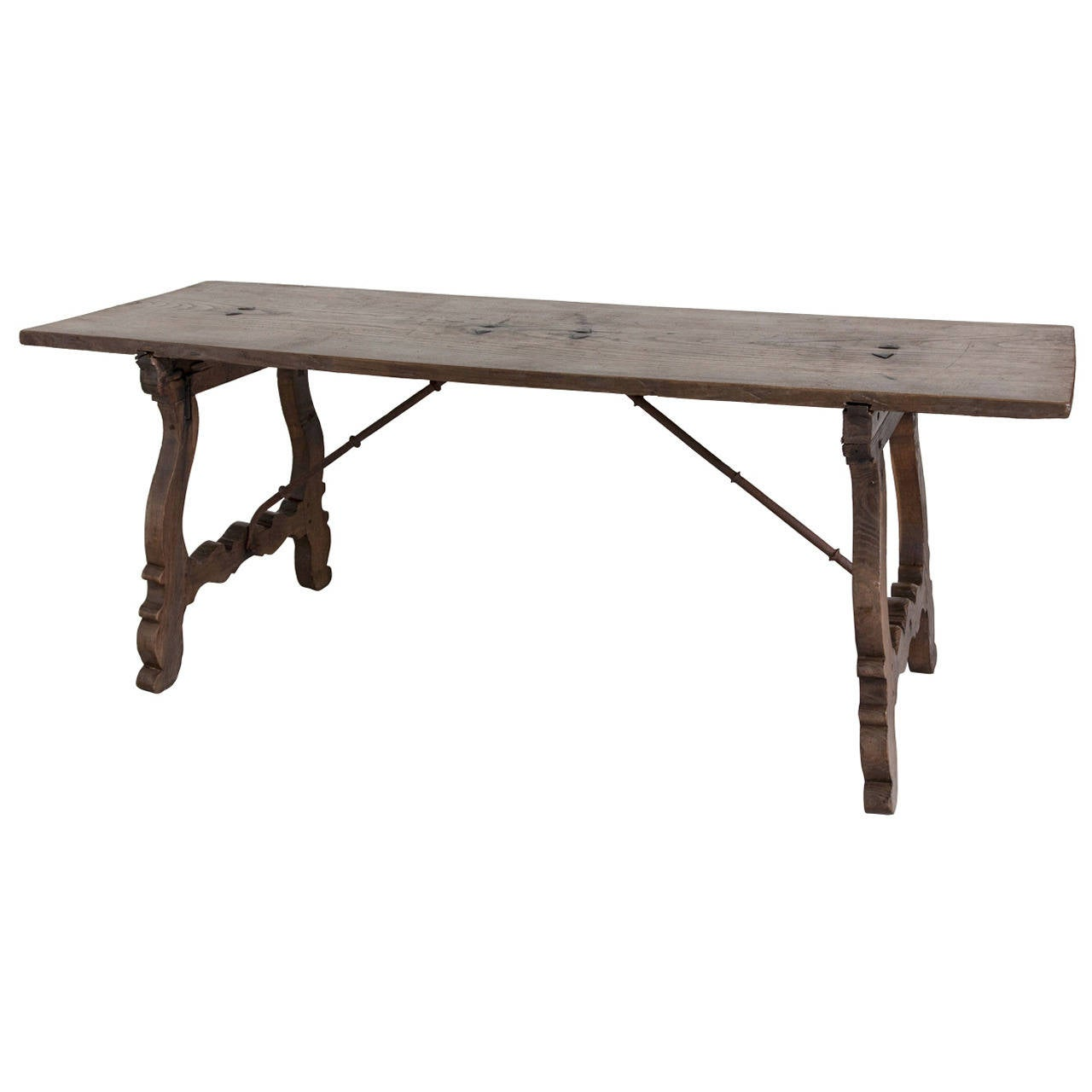 18th century walnut spanish renaissance library table with for Table th visible