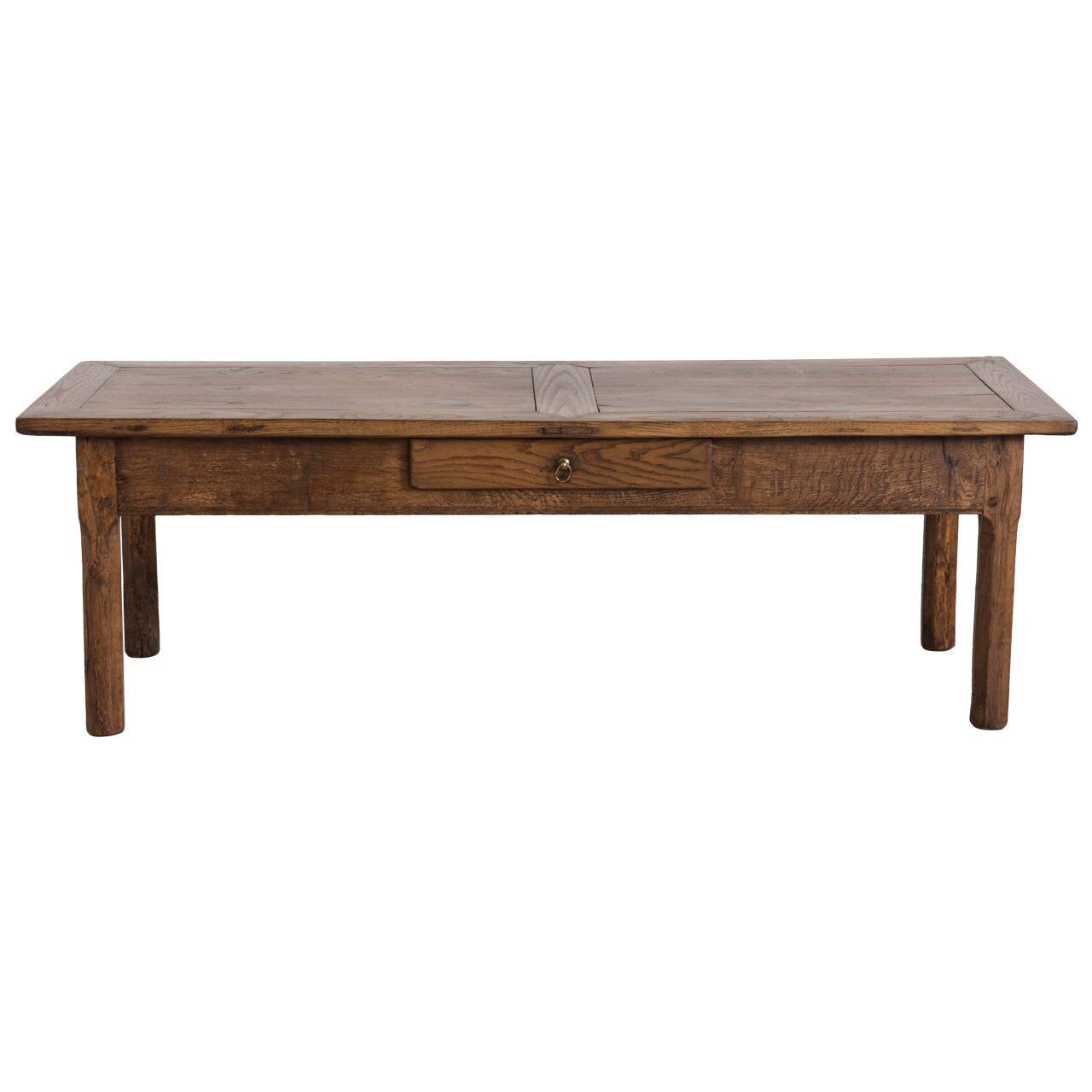 19th Century French Rustic Coffee Table Of Solid Oak From Normandy At 1stdibs