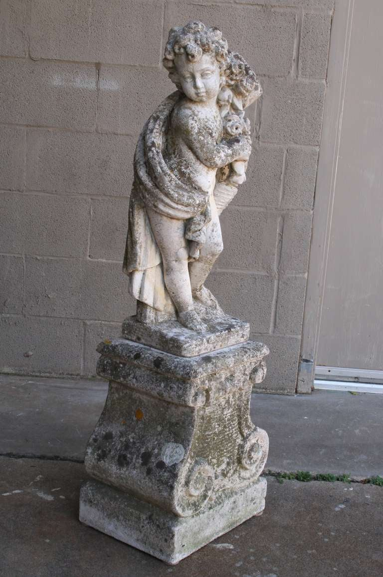 French Limestone Statue at 1stdibs