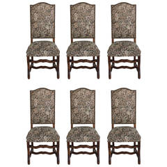 Set of Six Hand Pegged Ash Mutton Leg Dining Chairs