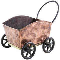 Copper Table Top Garden Cart Wine Chiller