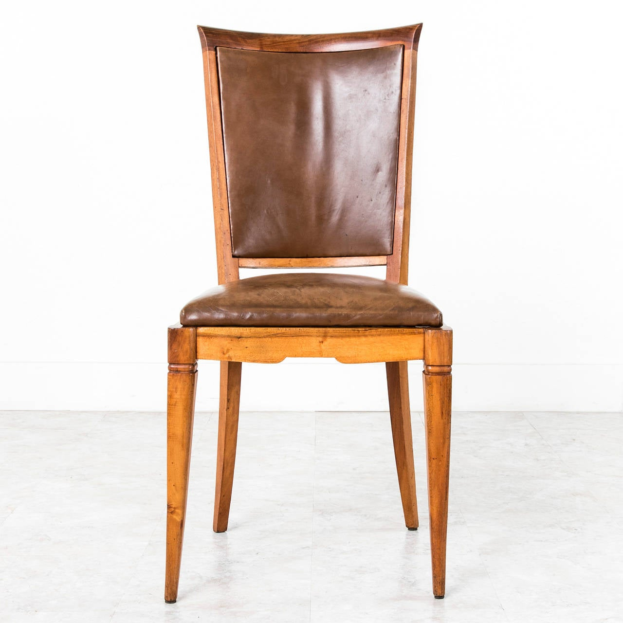 set of six deco period dining chairs with