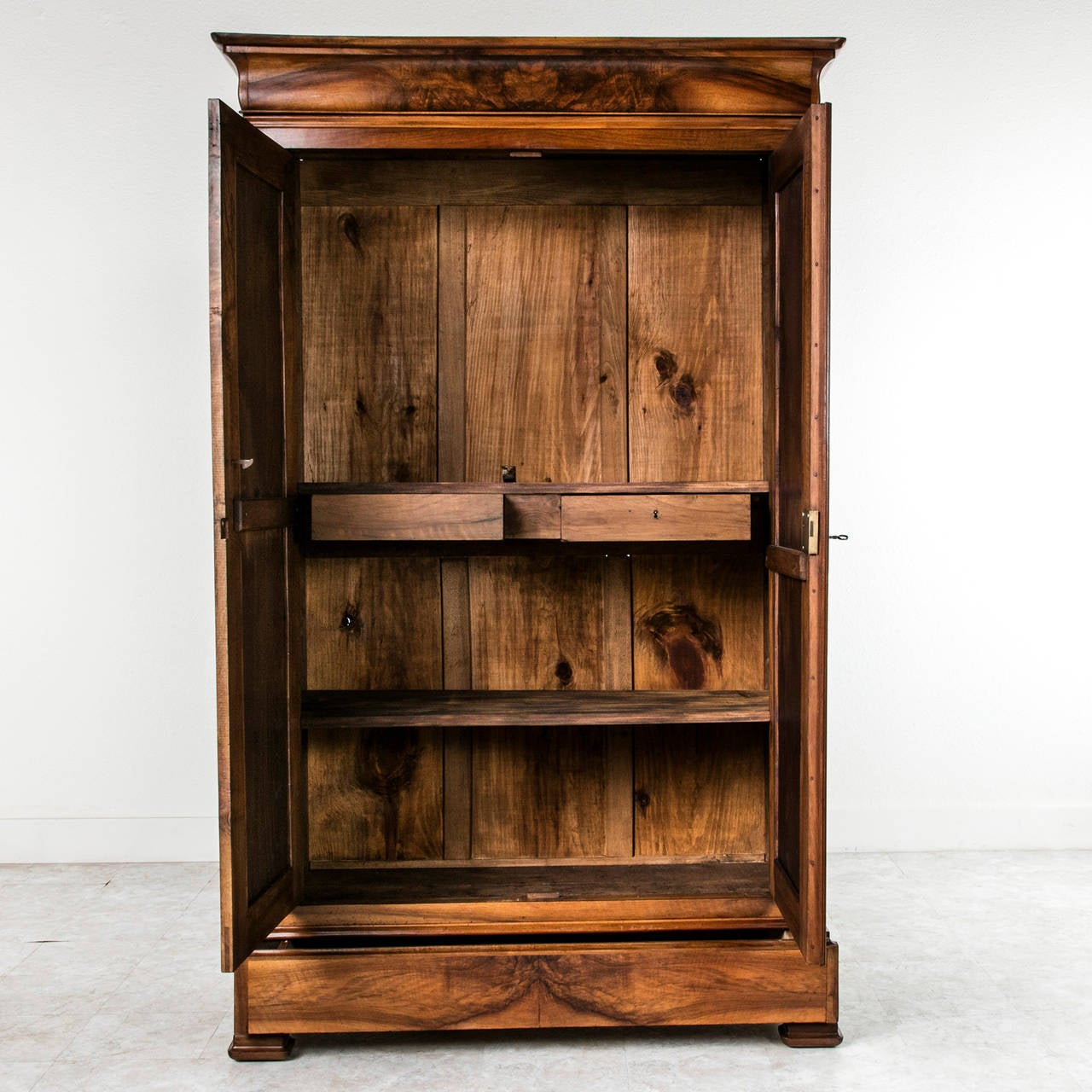 Walnut Antique French Louis Philippe Style Armoire At 1stdibs. Full resolution  img, nominally Width 1280 Height 1280 pixels, img with #AE5509.