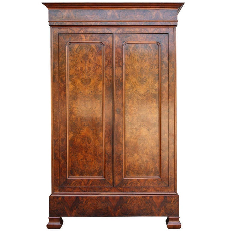 louis philippe armoire at 1stdibs. Black Bedroom Furniture Sets. Home Design Ideas