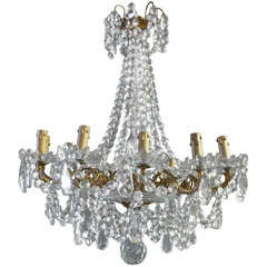 Large French Crystal Chandelier