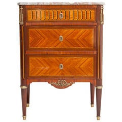 Rare Small Scale 19th Century Louis XVI Marquetry Commode or Chest of Drawers
