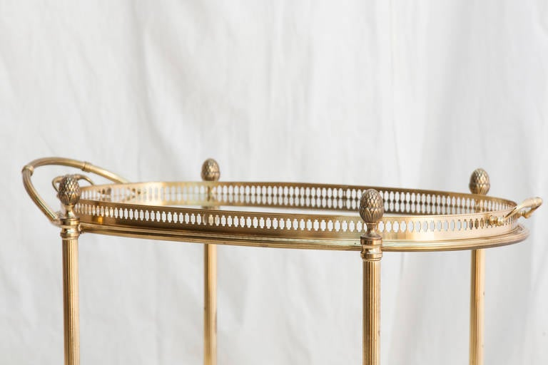 Mid-Century French Bar Cart with Removable Tray 4